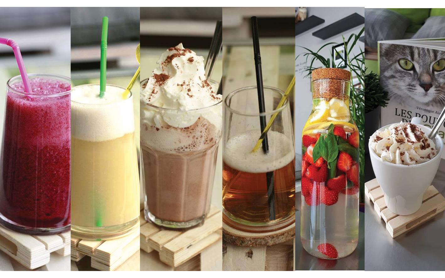 BOISSONS CHAPOTINS RESTAURATION. Smoothie, café viennois, jus détox, jus de fruits, café